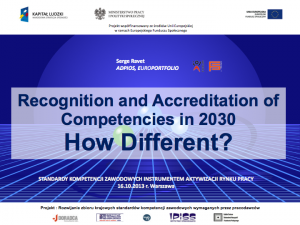 Recognition and Accredication of Competencies in 2030