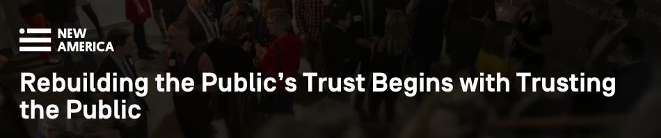 Trust the people